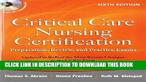 [BOOK] PDF Critical Care Nursing Certification: Preparation, Review, and Practice Exams, Sixth