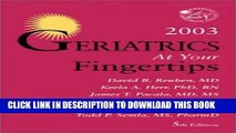 [FREE] EBOOK Geriatrics At Your Fingertips 2003 (Encyclopedia of Sports Medicine Series) ONLINE
