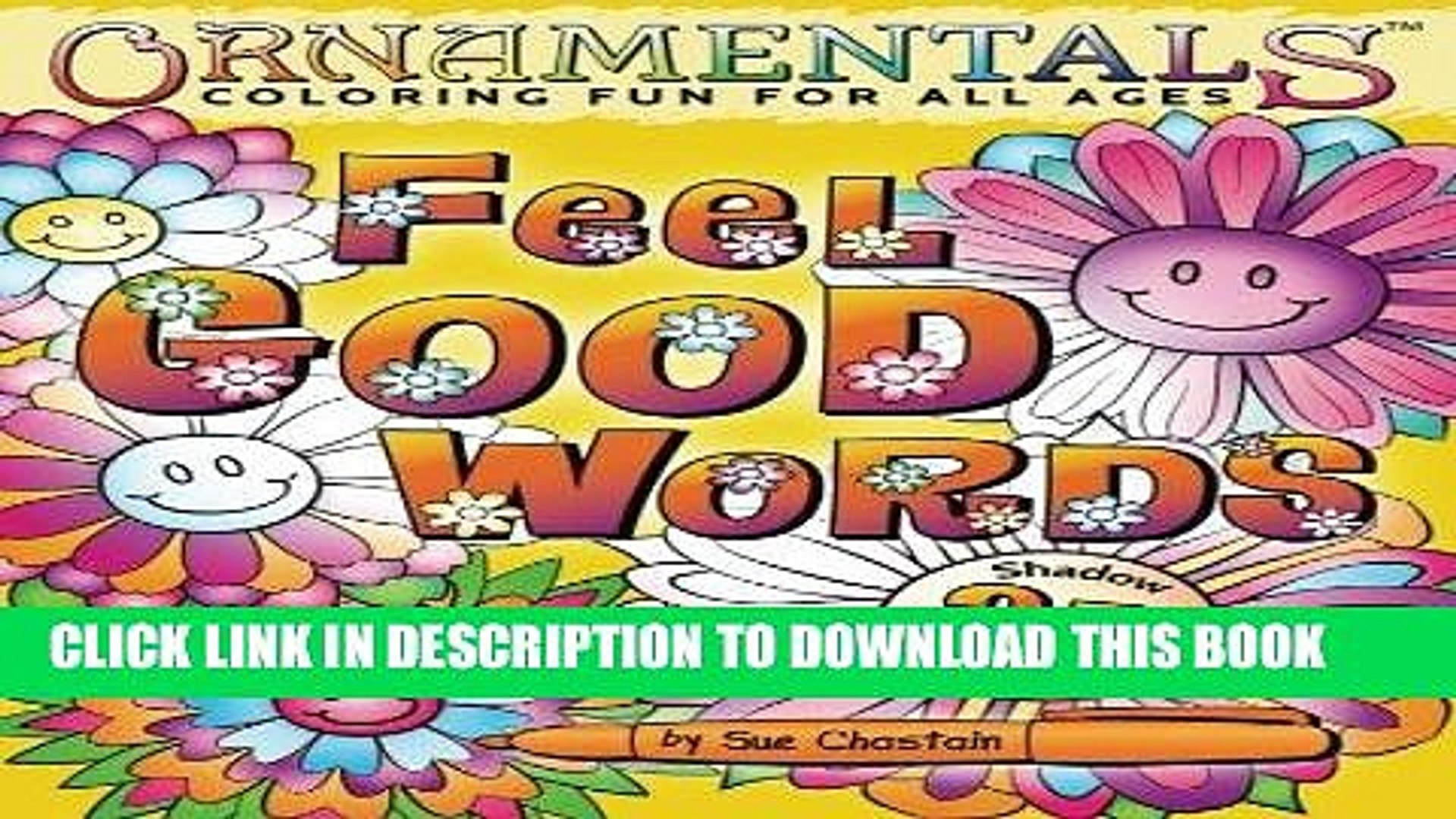 Ebook OrnaMENTALs Feel Good Words Coloring Book: 30 Positive and Uplifting Feel Good Words to