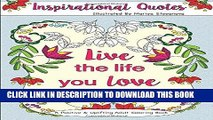Best Seller Inspirational Quotes: A Positive   Uplifting Adult Coloring Book (Beautiful Adult