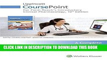 [FREE] EBOOK Lippincott CoursePoint for Ford s Roach s Introductory Clinical Pharmacology with