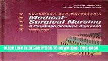 [FREE] EBOOK Luckmann and Sorensen s Medical-Surgical Nursing: A Psychophysiologic Approach ONLINE