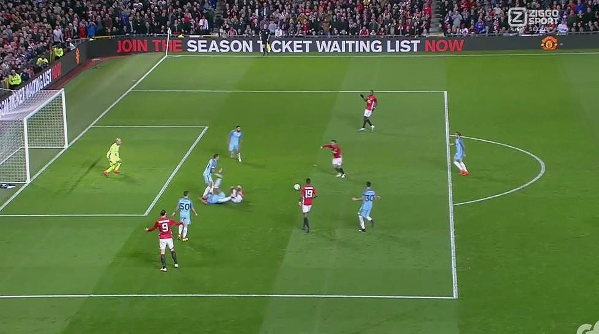 Goal Juan Mata 1-0 HD - Manchester United 1 vs Manchester City 0 - English League Cup - 26/10/2016