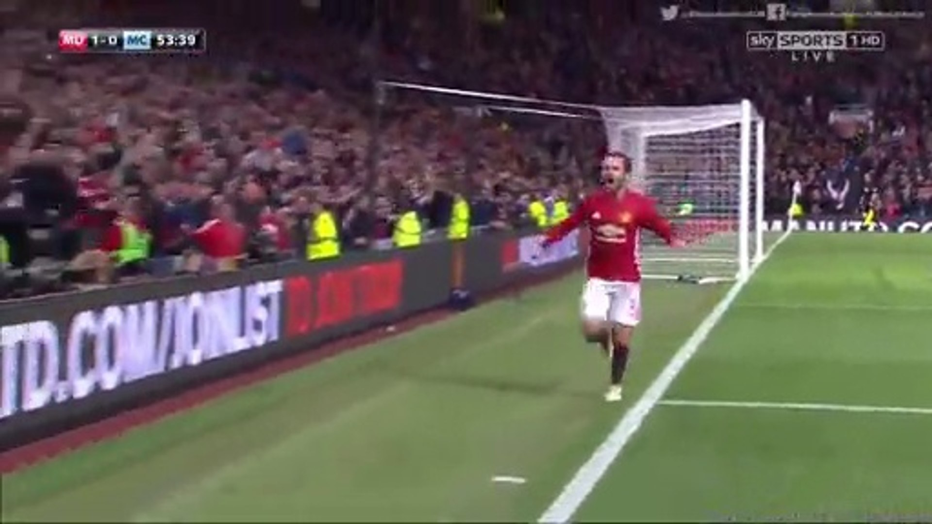 1-0 Juan Mata Goal HD - Manchester United vs Manchester City EFL Cup 26.10.2016 HD