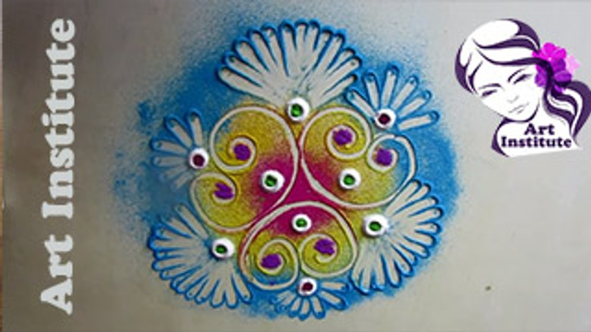 Rangoli Designs With Colours Simple And Easy Step By Step For Diwali Episode 103 By Art Institute