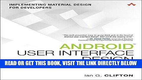 [EBOOK] DOWNLOAD Android User Interface Design: Implementing Material Design for Developers (2nd