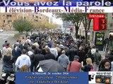 Télévision-Bordeaux-Média-France manif des policiers dans la rues à Bordeaux