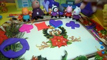 Peppa Pig Toys Happy Birthday Play doh rainbow sweets and cake in peppas house.
