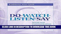 Ebook Do-Watch-Listen-Say: Social and Communication Intervention for Children with Autism Free Read