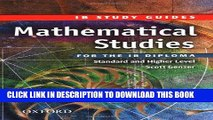 Read Now Mathematical Studies for the IB Diploma: Study Guide (International Baccalaureate)