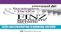 Read Now Strategies   Tactics for the FINZ Multistate Method (Emmanuel Bar Review) (Emanuel Bar