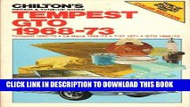 [New] Ebook Chilton s Repair and Tune-Up Guide Tempest Gto 1968-73 Free Read