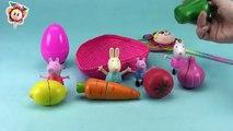 PEPPA PIG monta una frutería con sus amigas y Huevo sorpresa Aprender las frutas en inglés