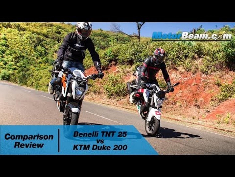 Benelli TNT 25 vs KTM Duke 200 - Comparison Review | MotorBeam