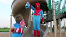 Captain America & Superman Vs Spider-Man DEATH BATTLE - In Real Life - Kids Superhero Fight!