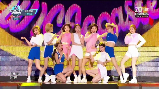 [2016-10-27][M!Countdown] TWICE _ TT [回歸初舞台]