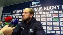"""Avant Aviron Bayonnais - Racing : Jean Monribot évoque """"la pression sur les épaules"""" des Bayonnais"""