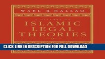 [Read] Ebook A History of Islamic Legal Theories: An Introduction to Sunni Usul al-fiqh New Reales