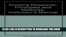 Ebook Nursing Research: Principles and Methods: Instructor s Manual Free Read