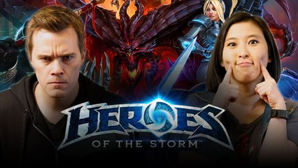 Let's Play HEROES OF THE STORM with Ricky FTW and Erika Ishii  |  Smasher Let's Play
