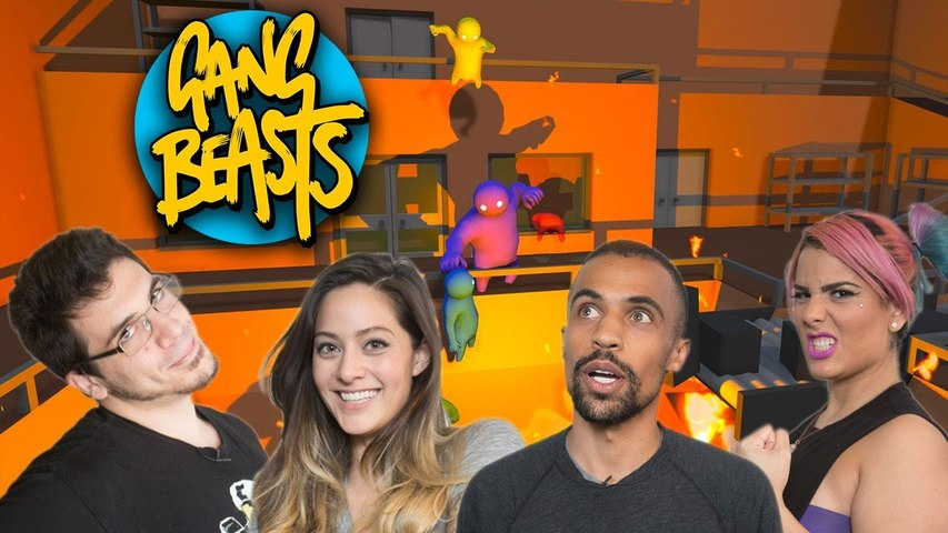 Let's Play GANG BEASTS with TheZombiUnicorn, RecklessTortuga, ChilledChaos, and 2MGoverCsquared2