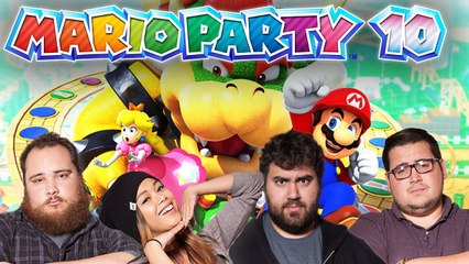 Lets Play MARIO PARTY 10 w/ EatMyDiction, The Completionist, MissesMae, and BigMacNation