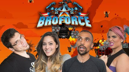 Let's Play BROFORCE with TheZombiUnicorn, RecklessTortuga, ChilledChaos, and 2MGoverCsquared2