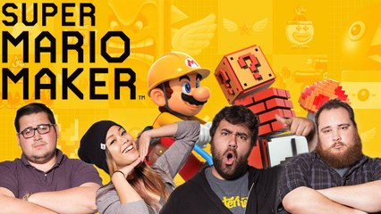 Let's Play SUPER MARIO MAKER with EatMyDiction, The Completionist, MissesMae, and BigMacNation