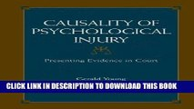 Ebook Causality of Psychological Injury: Presenting Evidence in Court Free Read
