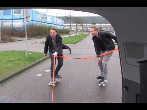 Skateboarden Achter Een Auto! - #2 World Of Cinemates