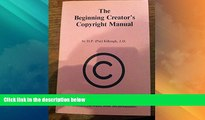 Big Deals  The Beginning Creator s Copyright Manual  Best Seller Books Most Wanted