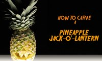 How to Carve a Pineapple Jack-O'-Lantern
