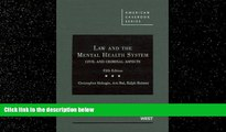 Books to Read  Law and the Mental Health System: Civil and Criminal Aspects (American Casebook)