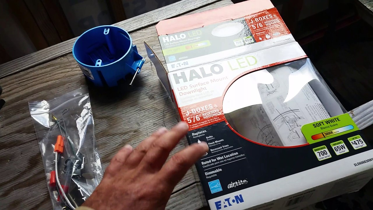 How to install a halo led surface mount downlight
