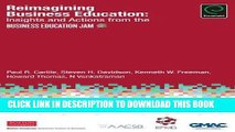 [PDF] Reimagining Business Education: Insights and Actions from the Business Education Jam Full