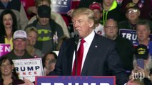 Trump asks crowd who has the least energy between Hillary Clinton and Jeb Bush