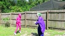 Juju On That Beat Superhero Superstars - Spiderman vs Venom w  Joker, Pink Spidergirl, Fat Superman