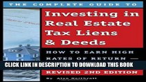 [Free Read] The Complete Guide to Investing in Real Estate Tax Liens   Deeds Free Online