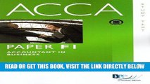 PDF] ACCA - F1 Accountant in Business: Text Popular