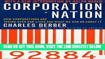 [Free Read] Corporation Nation: How Corporations are Taking Over Our Lives -- and What We Can Do