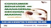 [PDF] Consumer Behavior and Managerial Decision Making Full Online