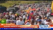 Maduro decreta aumento salarial de 40%: Entrará en vigencia el 1º de noviembre