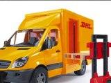 Camion Jouet Bruder MB Sprinter DHL Avec Palette de Main Jack