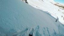 Multiples chutes d'un skieur tentant une nouvelle figure ! Swithc Double Cork 900
