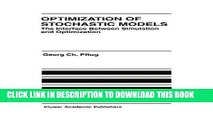 Best Seller Optimization of Stochastic Models: The Interface Between Simulation and Optimization
