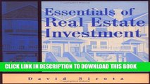 Best Seller Essentials of Real Estate Investment (Essentials of Real Estate Investment, 6th ed)