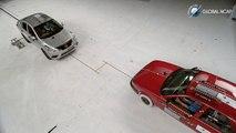 Crash test coche contra coche del Nissan Tsuru