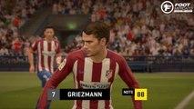 FIFA 17 : les visages et notes de l'Atlético Madrid