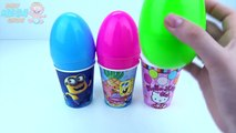 Learn Colours Surprise Toys Cups and Balls Eggs Paw Patrol Talking Tom Pony Minions