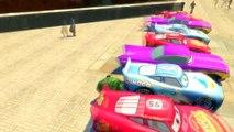 50 LIGHTNING MCQUEEN COLOR!! Custom Colors Lightning McQueen & SPIDERMAN Disney Cars Pixar Fun